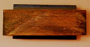 land scape oil on wood
