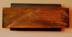 """""""nm ny"""" oil on wood 18 X 8"""
