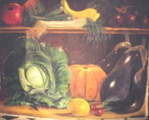 """""""random fruit"""" oil on canvass 5 x 3.5"""